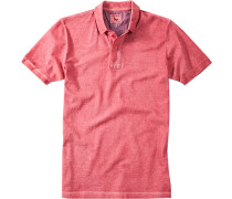 Herren Polo-Shirt Polo Baumwoll-Piqué erdbeerrot