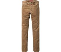 Jeans Cordhose Baumwoll-Stretch