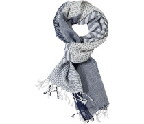 Schal Leinen -weiß gemustert