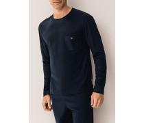 Schlafanzug Longsleeve Baumwolle navy