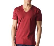 Herren T-Shirt Baumwoll-Mix dunkelrot
