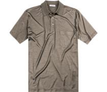Polo-Shirt Polo, Seiden-Jersey, meliert