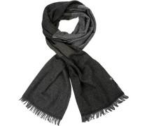 Schal Wolle -khaki gestreift