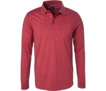 Polo-Shirt Polo, Regular Fit, Baumwoll-Jersey, meliert