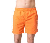 Herren Bademode Badeshortsbr>Microfaser orange
