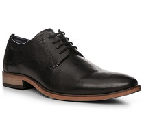 Schuhe Derby Leder schwarz