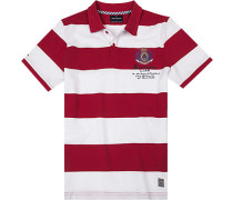 Polo-Shirt Polo Baumwolle -weiß gestreift