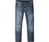 Herren Jeans St. Germain Classic Comfort Fit Baumwolle blau