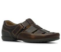 Schuhe 'Recline Open' extra weit Kalbleder mittelbraun