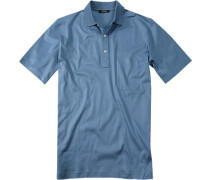Polo-Shirt Polo, Baumwoll-Jersey, meerblau