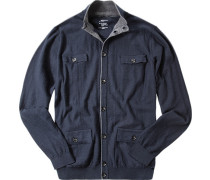 Cardigan Slim Fit Baumwolle navy