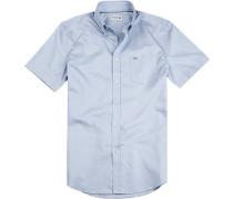 Hemd Regular Fit Baumwolle hellblau meliert
