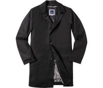 Herren Mantel Anorak Microtec mit heraustrennbarem Futter schwarz schwarz,blau
