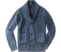 Cardigan Iven-J Baumwolle jeansblau