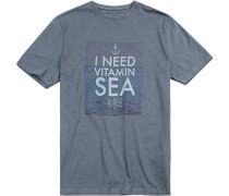 T-Shirt Modern Fit Baumwolle petrol