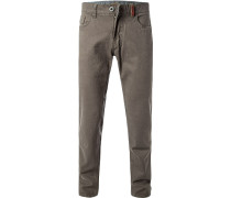 Hose, Straight Fit, Baumwolle, taupe
