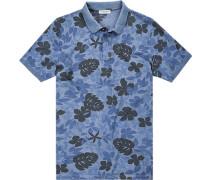 Polo-Shirt Polo Baumwoll-Pique gemustert