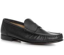 Herren Schuhe Loafer Kalbleder schwarz schwarz,beige