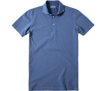 Herren Polo-Shirt Polo Baumwoll-Piqué blau
