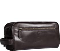 Tasche Kosmetiktäschchen Rindleder dunkelbraun