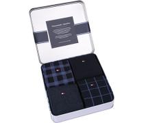 Socken Socken Geschenk-Box Baumwoll-Mix navy gemustert