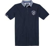 Polo-Shirt Polo, Modern Fit, Baumwoll-Piqué, marine
