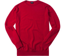 Pullover Wolle kirschrot