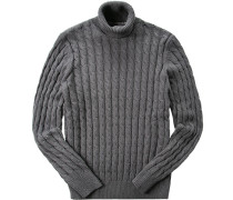 Pullover Pulli Modern Fit Baumwolle steingrau