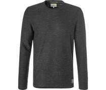 Pullover, Baumwolle, anthrazit