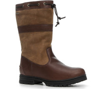 Herren Schuhe Boot Leder wasserdicht braun