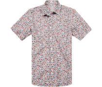 Hemd, Modern Fit, Leinen-Baumwolle, floral