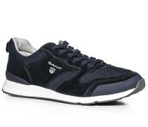 Herren Schuhe Sneaker Leder-Textil marine blau,weiß