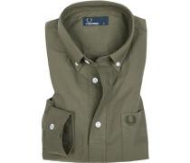 Hemd, Oxford, khaki