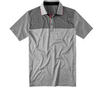 Polo-Shirt Baumwoll-Jersey navy-weiß gestreift
