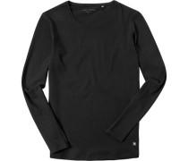 T-Shirt Longsleeve Shaped Fit Baumwolle