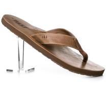 Schuhe Zehensandalen, Leder, hellbraun