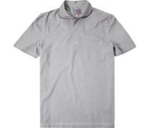 Herren Polo-Shirt Baumwoll-Jersey hellgrau