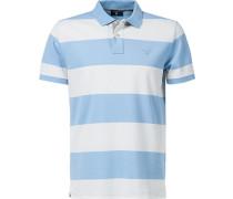 Polo-Shirt Polo Baumwoll-Piqué -weiß gestreift