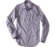 Herren Hemd Regular Fit Baumwolle jeansblau