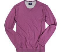 Pullover Baumwolle-Seide fuchsia meliert
