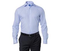 Herren Oberhemd Regular Fit Popeline hellblau
