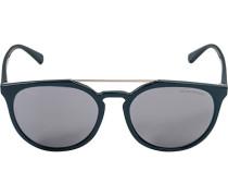 Brillen Sonnenbrille, Kunststoff-Metall, rauchblau