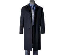 Herren Mantel Schurwolle-Kaschmir dunkelblau blau,blau
