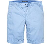 Hose Bermudashorts Regular Fit Baumwolle hellblau