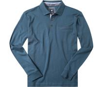 Herren Polo-Shirt Polo Baumwoll-Jersey petrol grün
