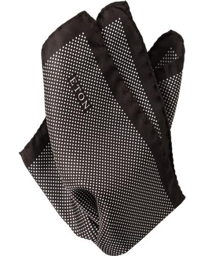 Accessoires Einstecktuch Seide braun-weiß gepunktet