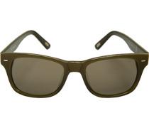 Brillen Sonnenbrille, Kunststoff, olivgrün