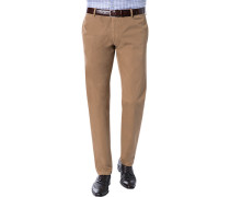 Herren Hose Chino Regular Fit Baumwoll-Stretch camel braun
