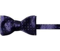 Herren Krawatte  Schleife Seide saphirblau gepunktet