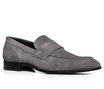 Schuhe Slipper Veloursleder mittelgrau